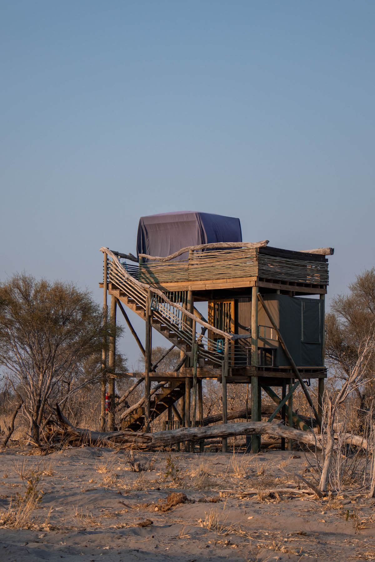 Staying at Skybeds in the Okavango Delta, the most amazing room