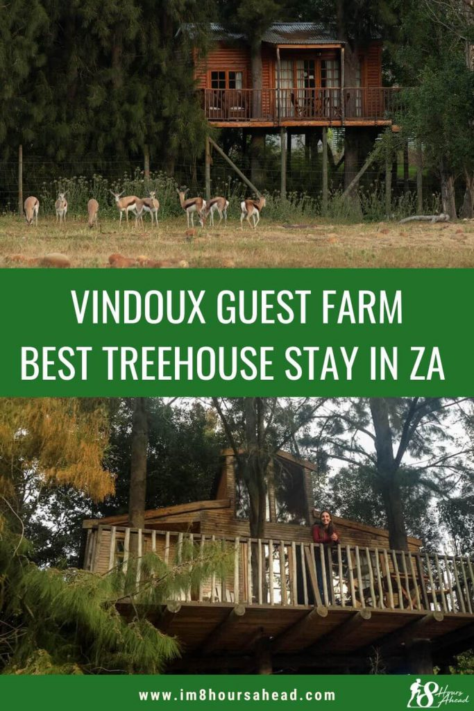 Sleeping in a tree house at Vindoux Guest Farm