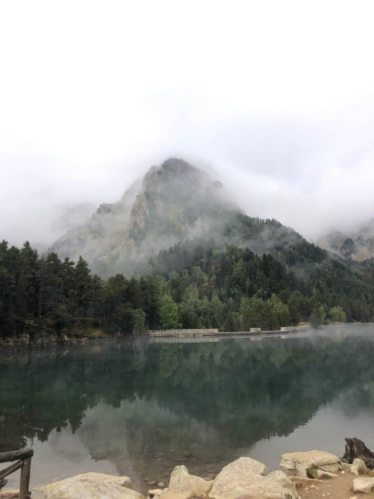 Sant Maurici lake in Aigüestortes National Park