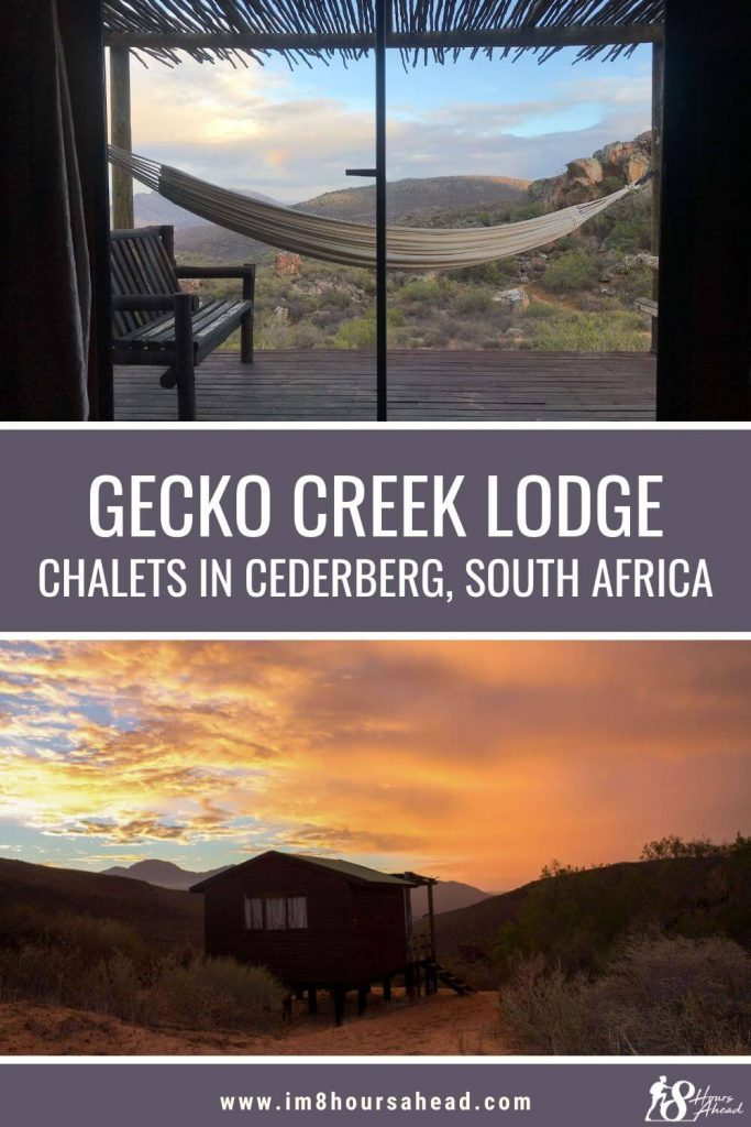 Staying at Gecko Creek lodge in Cederberg, South Africa
