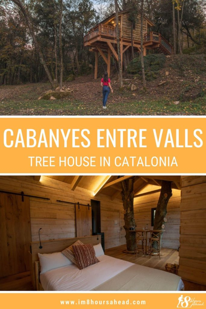 Staying at Cabanyes Entre Valls, a tree house hotel in Catalunya, 2 hours from Barcelona.