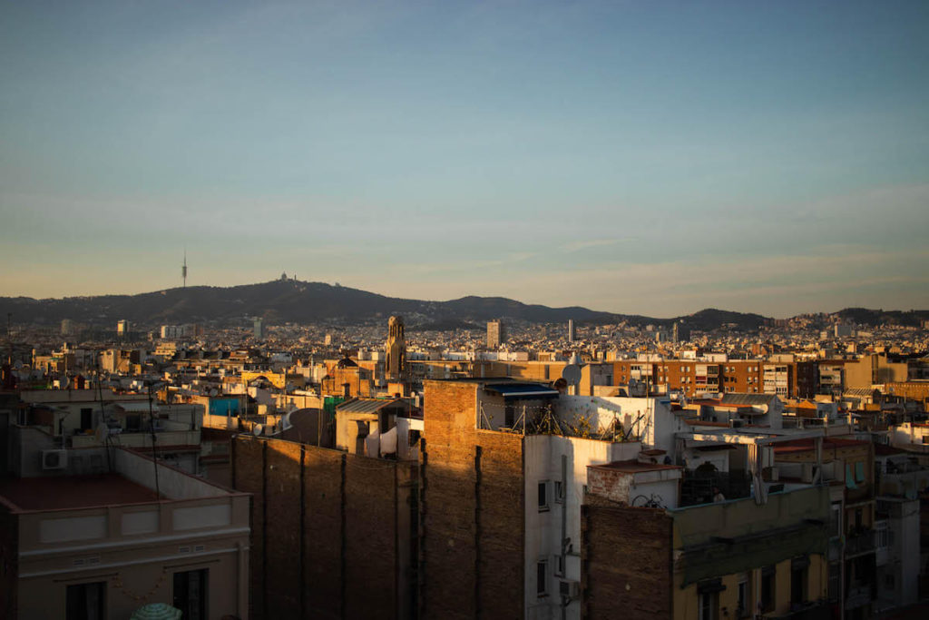 Views from Hotel Brummell at Sunset, Barcelona