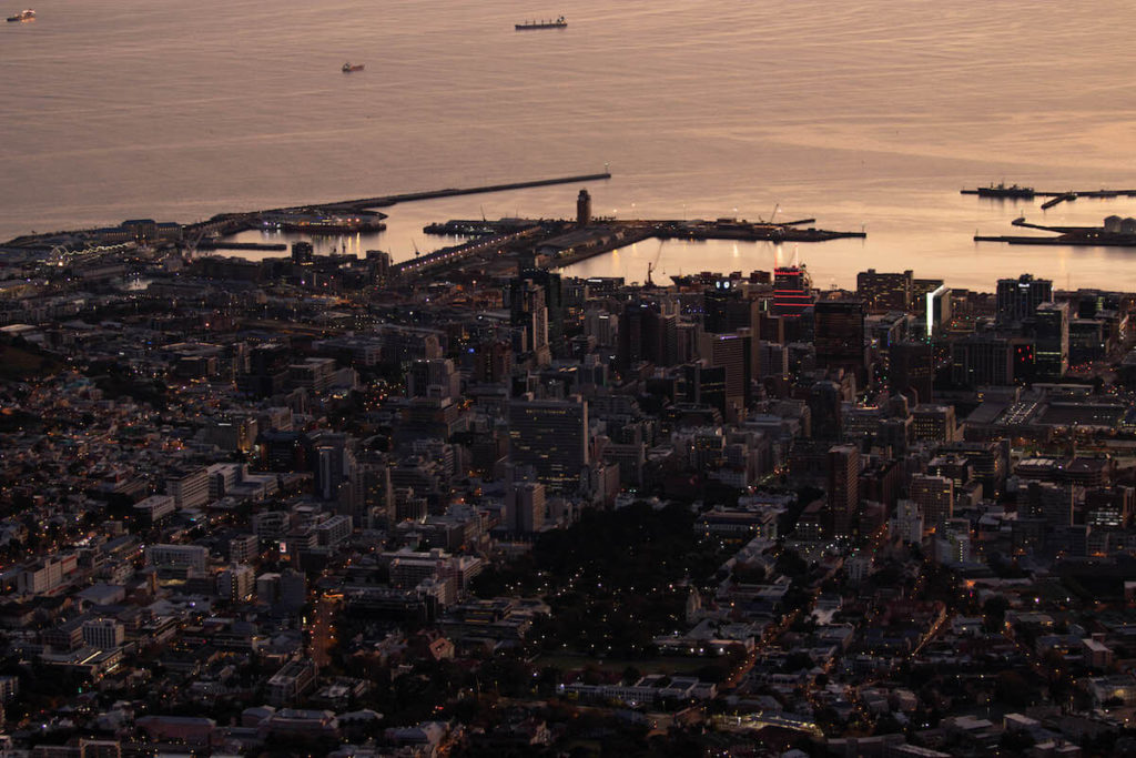 Cape Town from Cable Car at sunrise