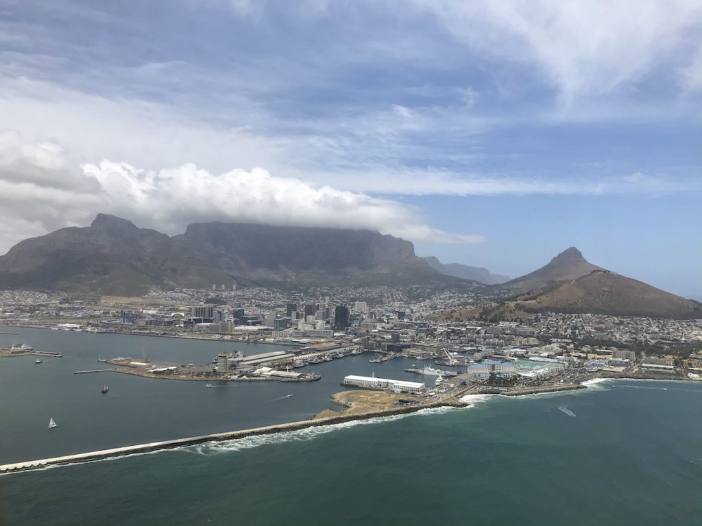 Cape Town from the helicopter