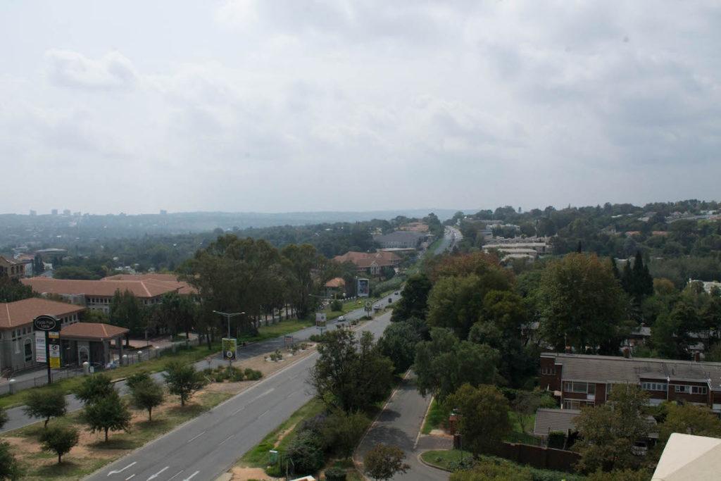 Johannesburg from Hyatt hotel rooftop