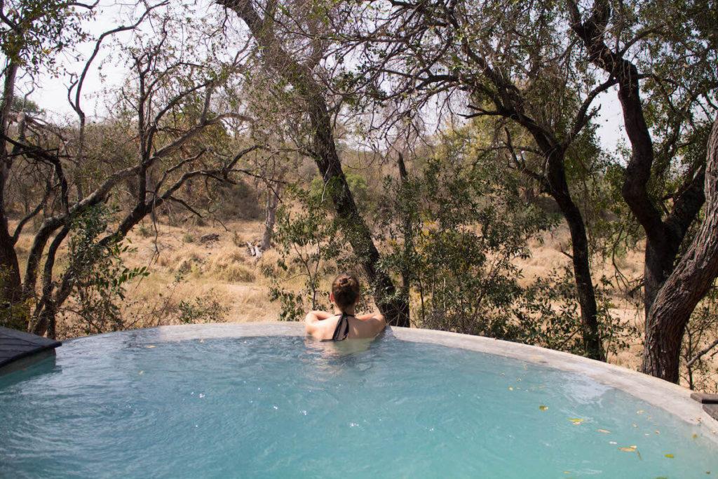 Chilling at Dulini Lodge pool